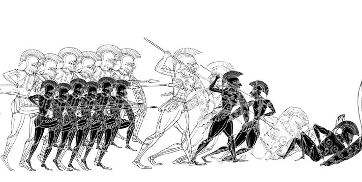 Odyssey detail -- hoplites